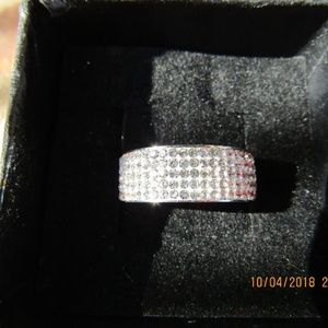Jewelry - Tungsten Stainless Steel Rhinestone Ring Sz 8